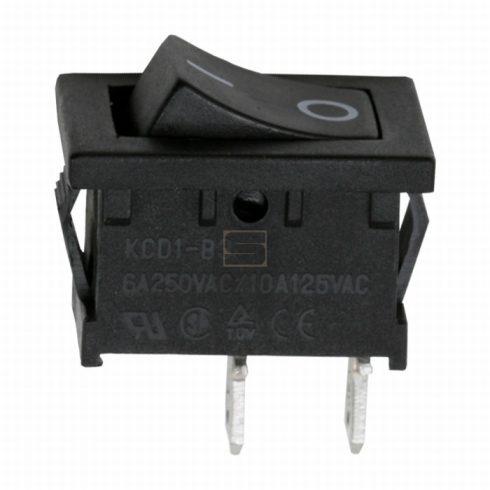 Kapcsoló készülékkapcsoló BE/KI 1P fekete 6A 250V I-0 felirat