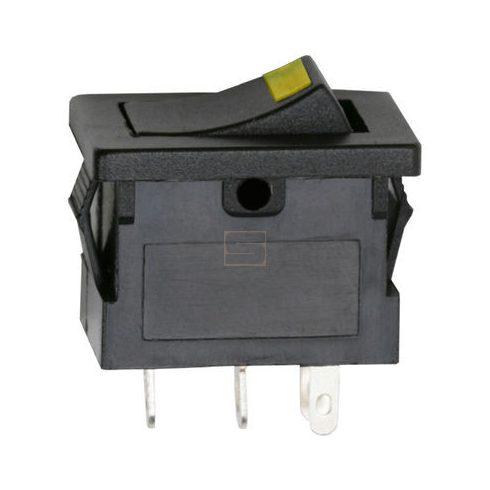 Kapcsoló készülékkapcsoló BE/KI 1P sárga LED 15A 12VDC