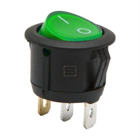 Kapcsoló készülékkapcsoló BE/KI 1P zöld világít 6A 250V