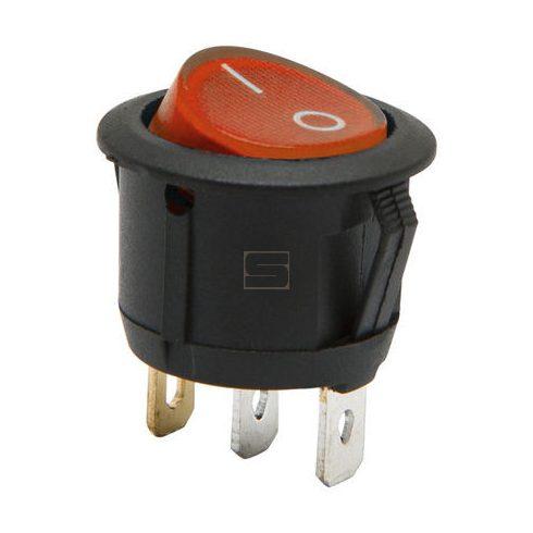 Kapcsoló készülékkapcsoló BE/KI 1P piros világít 6A 250V