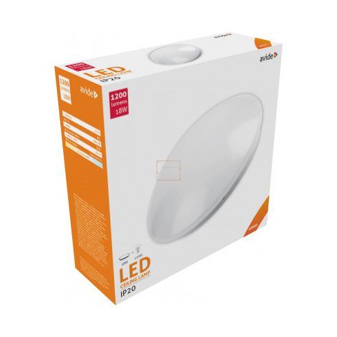Lámpa mennyezeti 18W 1600lm 4000K IP20 Avide