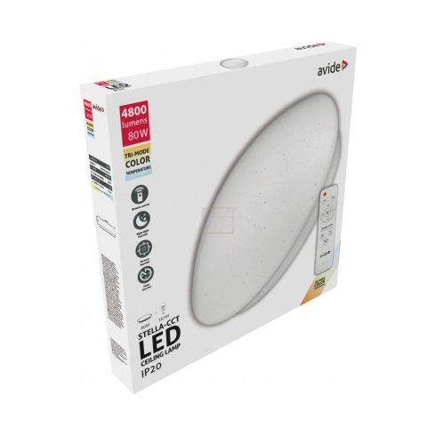 Lámpa mennyezeti 80W 4800lm 3000K-6400K távirányítóval IP20  Avide